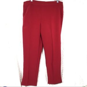 Roz & Ali dark red classic fit trousers slacks NWT
